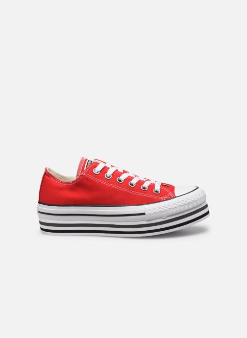 Sneakers Converse Chuck Taylor All Star Platform Layer EVA Layers Ox Rood achterkant