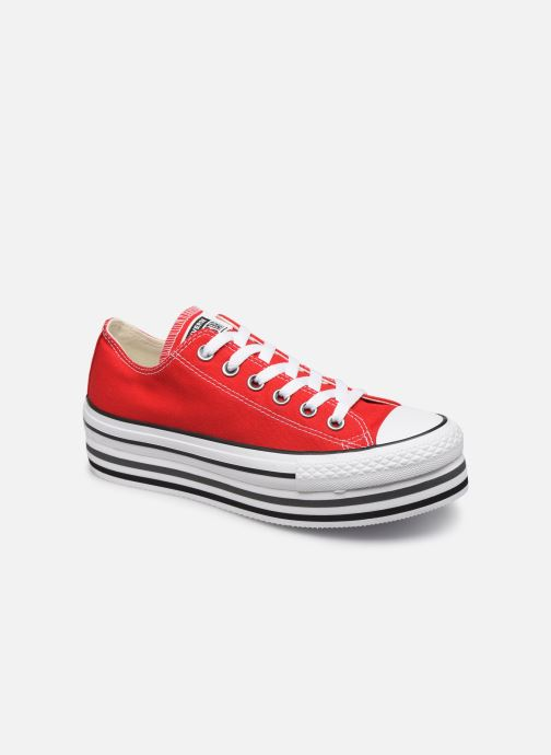 Trainers Converse Chuck Taylor All Star Platform Layer EVA Layers Ox Red detailed view/ Pair view
