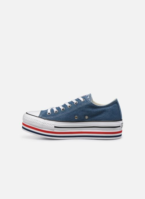 Sneakers Converse Chuck Taylor All Star Platform Layer EVA Layers Ox Blauw voorkant