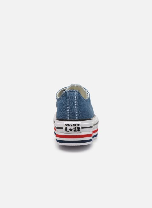Sneakers Converse Chuck Taylor All Star Platform Layer EVA Layers Ox Blauw rechts
