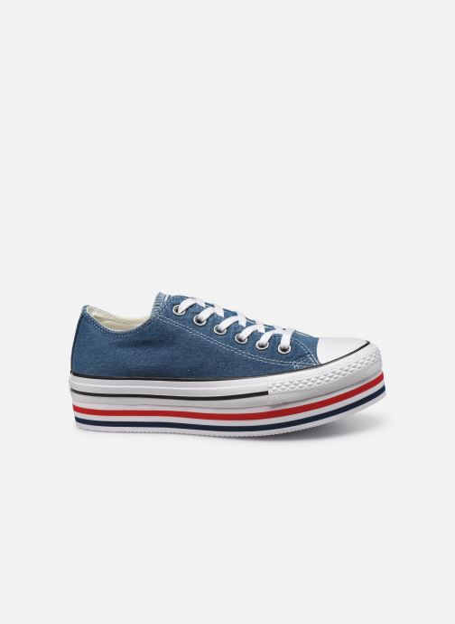 Sneakers Converse Chuck Taylor All Star Platform Layer EVA Layers Ox Blauw achterkant