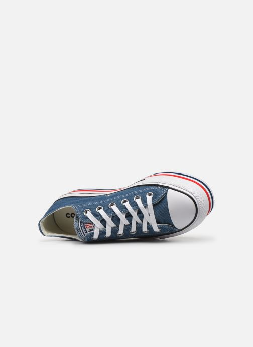 Sneakers Converse Chuck Taylor All Star Platform Layer EVA Layers Ox Azzurro immagine sinistra