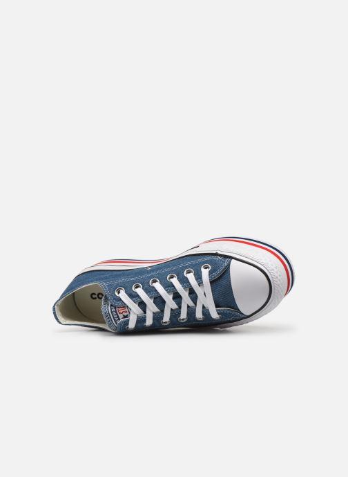 Sneakers Converse Chuck Taylor All Star Platform Layer EVA Layers Ox Blå se fra venstre