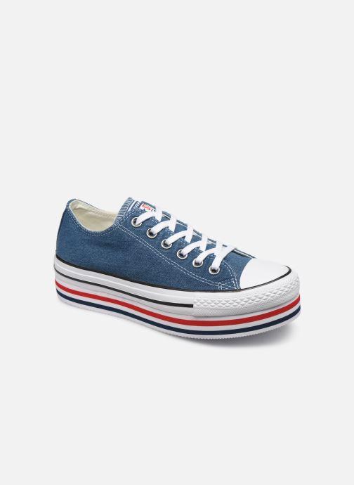 Sneakers Converse Chuck Taylor All Star Platform Layer EVA Layers Ox Blå detaljeret billede af skoene