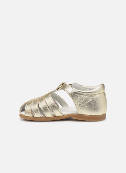 Sandales et nu-pieds Cendry Jeanne Or et bronze vue face
