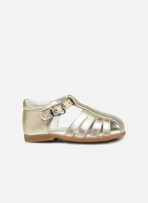 Sandals Cendry Jeanne Bronze and Gold back view