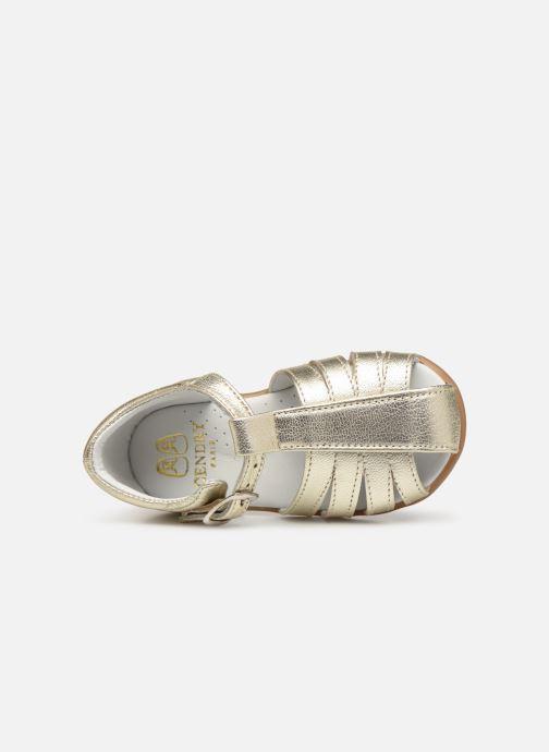 Sandales et nu-pieds Cendry Jeanne Or et bronze vue gauche