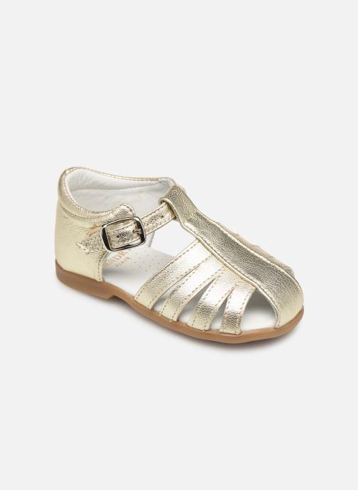 Sandales et nu-pieds Cendry Jeanne Or et bronze vue détail/paire