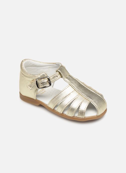 Sandals Cendry Jeanne Bronze and Gold detailed view/ Pair view