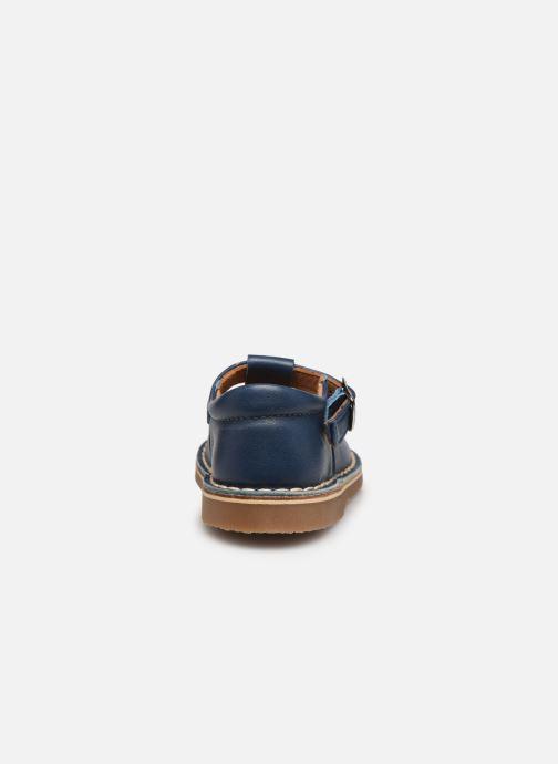 Sandales et nu-pieds Cendry Louise Bleu vue droite