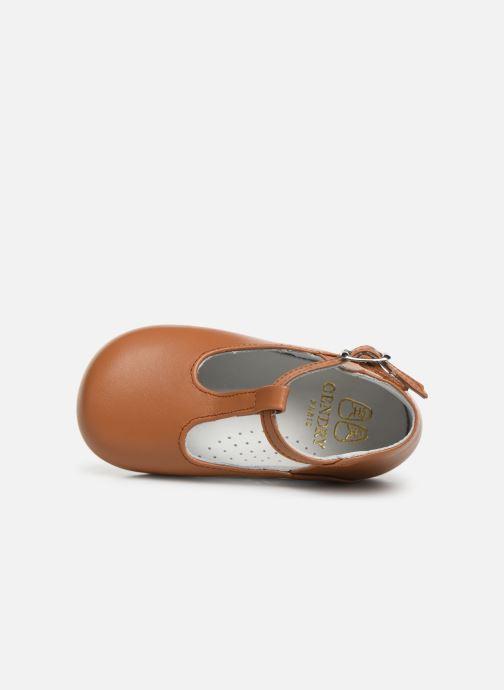 Sandales et nu-pieds Cendry Ines Marron vue gauche