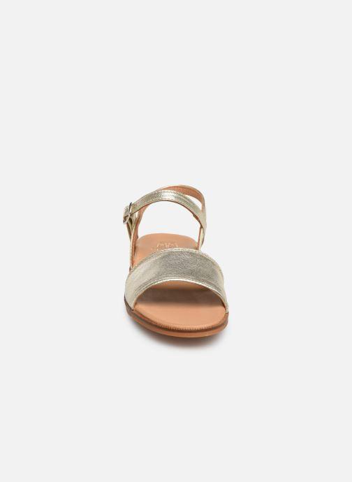 Sandales et nu-pieds Cendry Camille Or et bronze vue portées chaussures