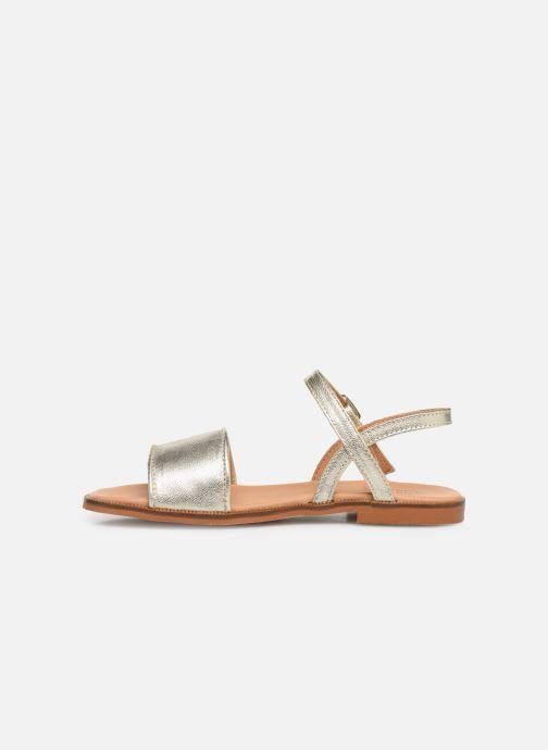 Sandales et nu-pieds Cendry Camille Or et bronze vue face