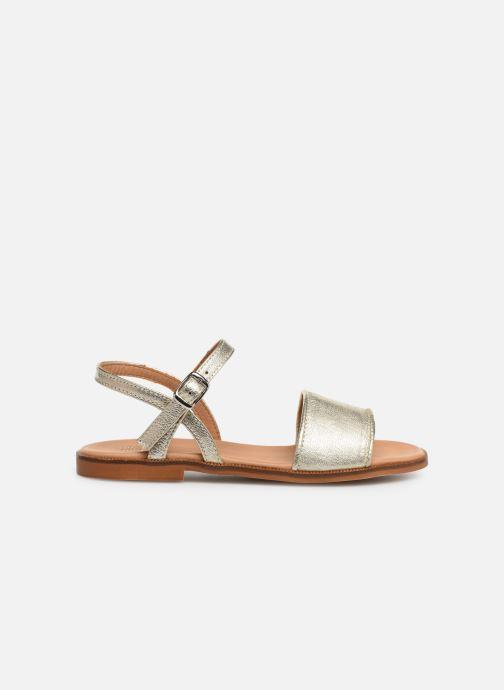Sandales et nu-pieds Cendry Camille Or et bronze vue derrière