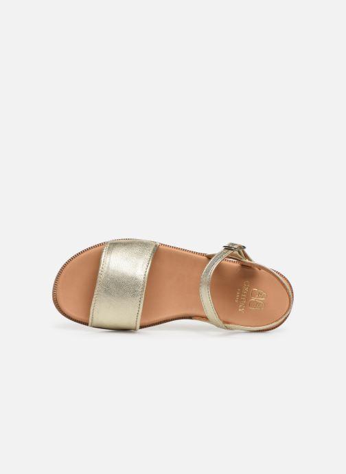 Sandales et nu-pieds Cendry Camille Or et bronze vue gauche
