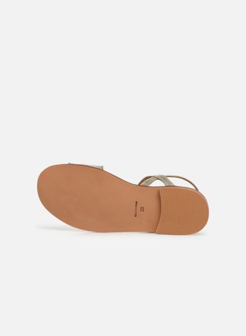 Sandales et nu-pieds Cendry Camille Or et bronze vue haut