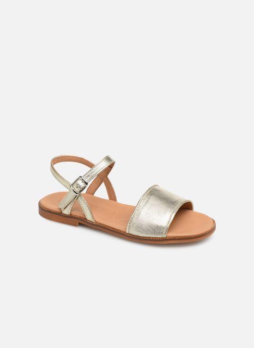 Sandales et nu-pieds Cendry Camille Or et bronze vue détail/paire