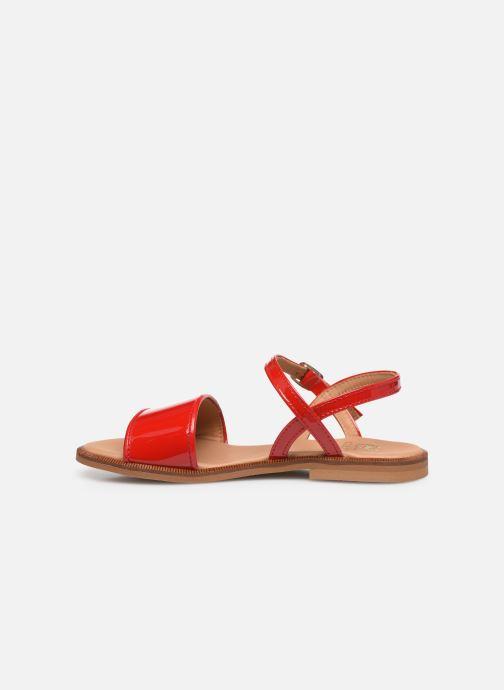 Sandalen Cendry Camille rot ansicht von vorne