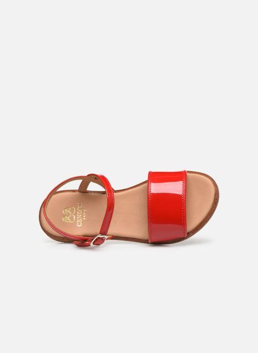 Sandalen Cendry Camille rot ansicht von links