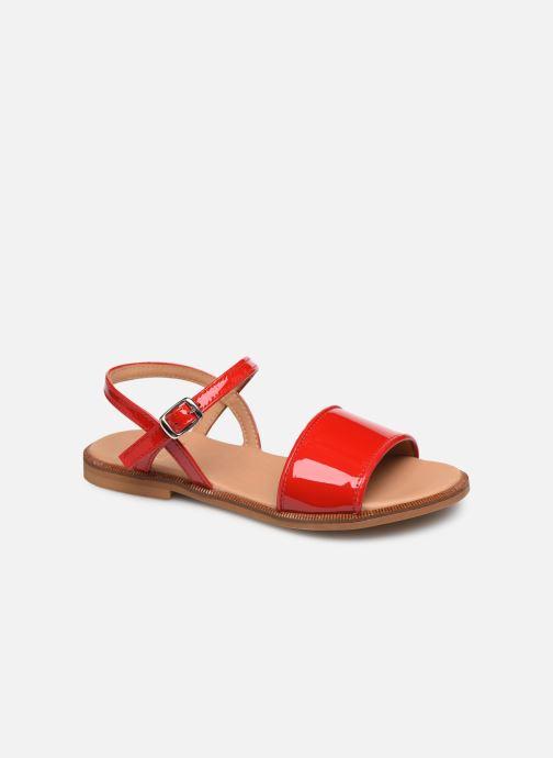 Sandales et nu-pieds Cendry Camille Rouge vue détail/paire