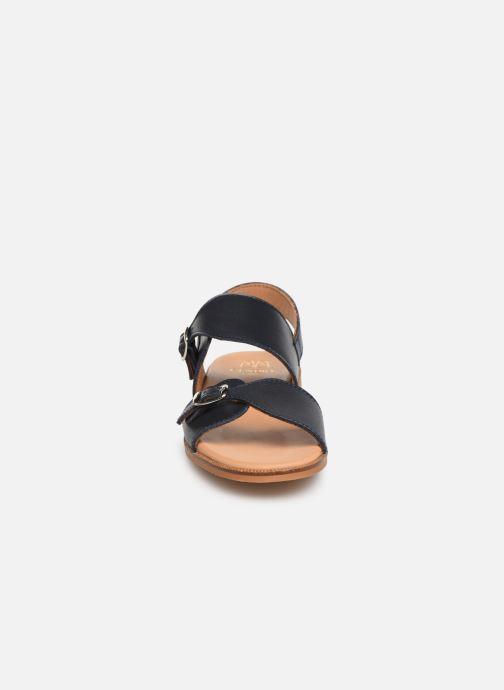 Sandales et nu-pieds Cendry Achille Bleu vue portées chaussures