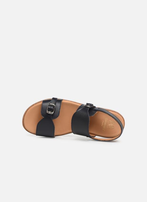 Sandals Cendry Achille Blue view from the left