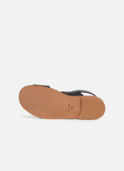 Sandales et nu-pieds Cendry Achille Bleu vue haut