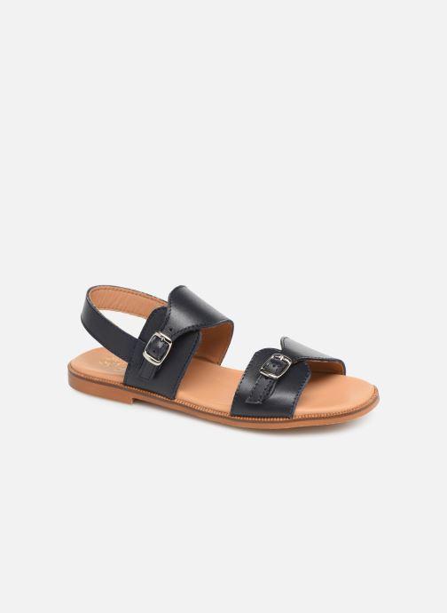 Sandales et nu-pieds Cendry Achille Bleu vue détail/paire