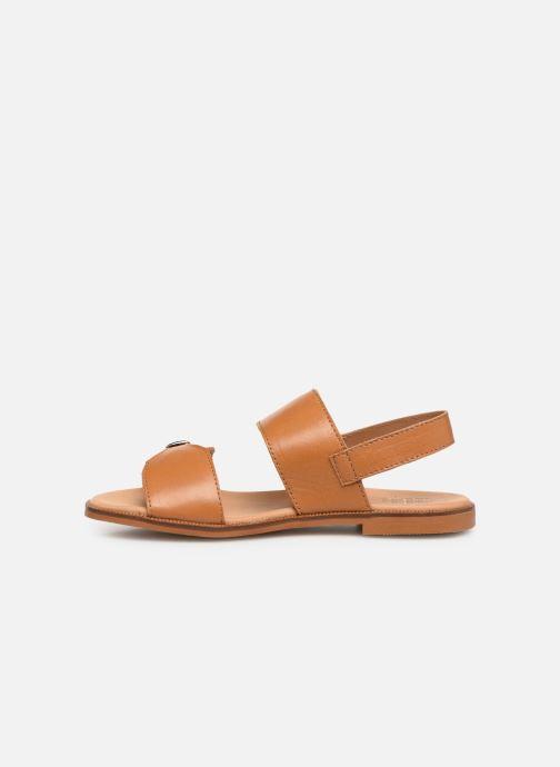 Sandales et nu-pieds Cendry Achille Marron vue face