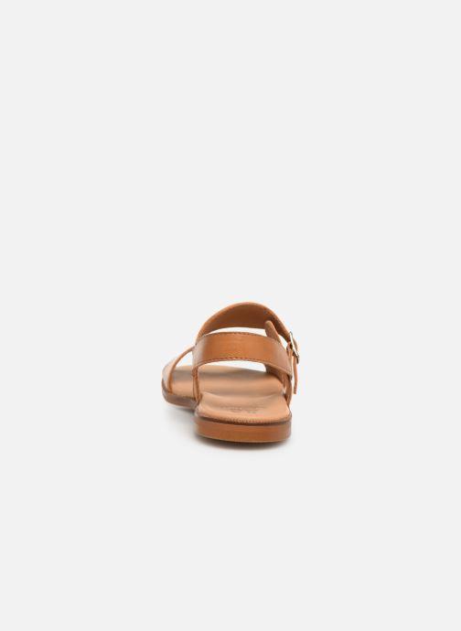 Sandali e scarpe aperte Cendry Achille Marrone immagine destra