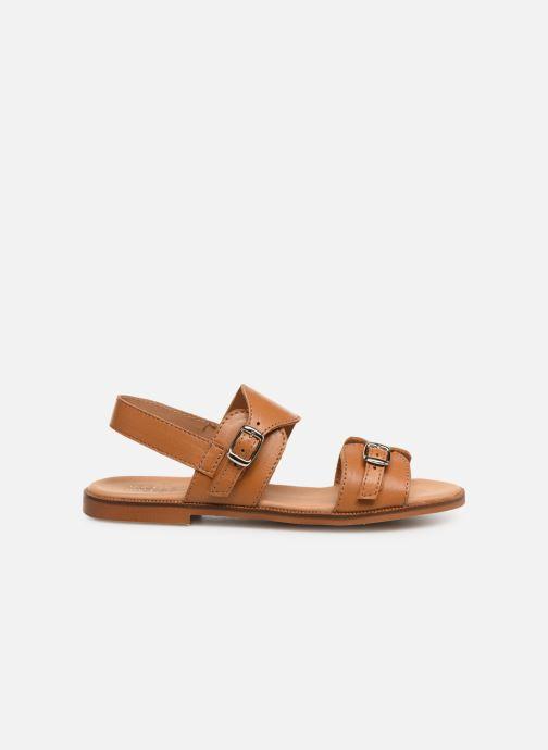 Sandales et nu-pieds Cendry Achille Marron vue derrière