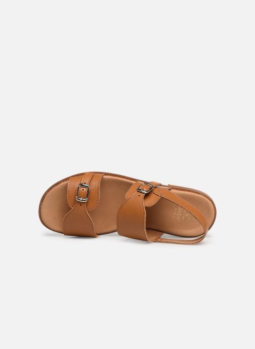 Sandales et nu-pieds Cendry Achille Marron vue gauche