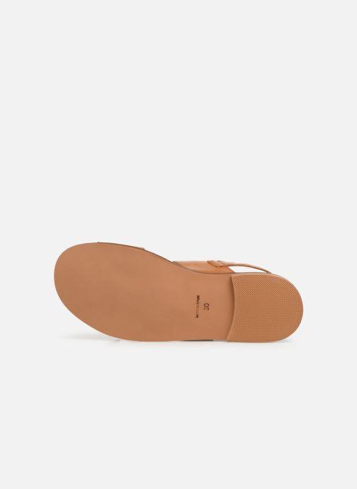 Sandales et nu-pieds Cendry Achille Marron vue haut