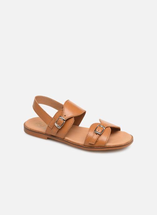 Sandales et nu-pieds Cendry Achille Marron vue détail/paire