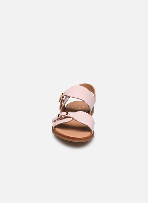 Sandales et nu-pieds Cendry Achille Rose vue portées chaussures