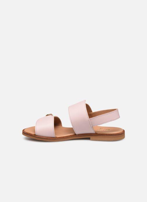 Sandales et nu-pieds Cendry Achille Rose vue face