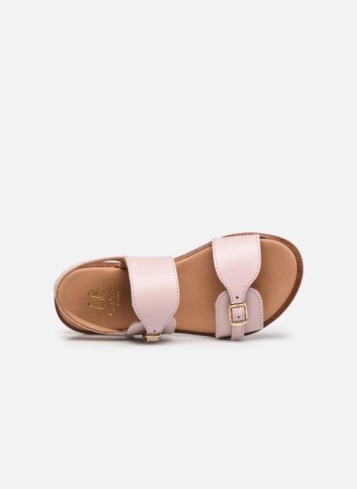 Sandales et nu-pieds Cendry Achille Rose vue gauche