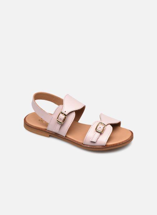 Sandales et nu-pieds Cendry Achille Rose vue détail/paire