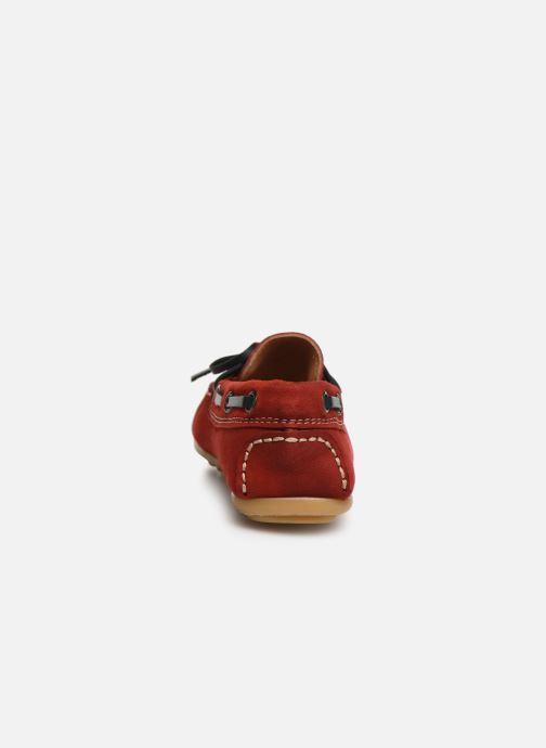Chaussures à lacets Cendry Alexandre Rouge vue droite