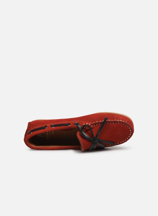 Lace-up shoes Cendry Alexandre Red view from the left