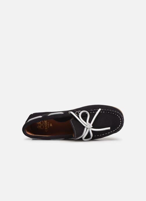 Zapatos con cordones Cendry Alexandre Azul vista lateral izquierda
