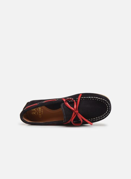 Lace-up shoes Cendry Alexandre Blue view from the left