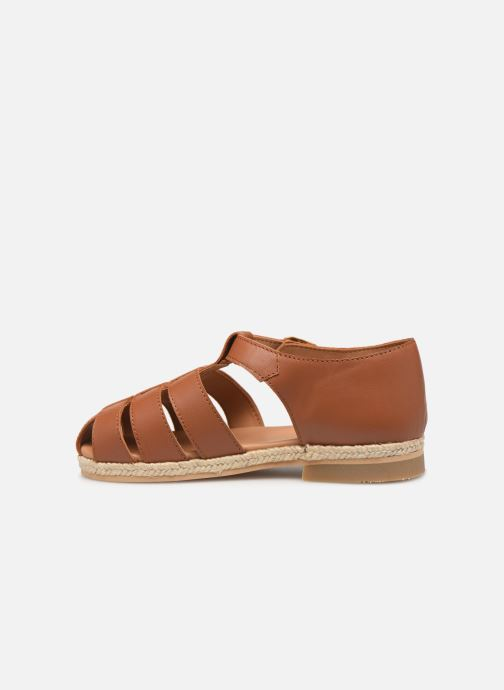Sandals Cendry Sasha Brown front view