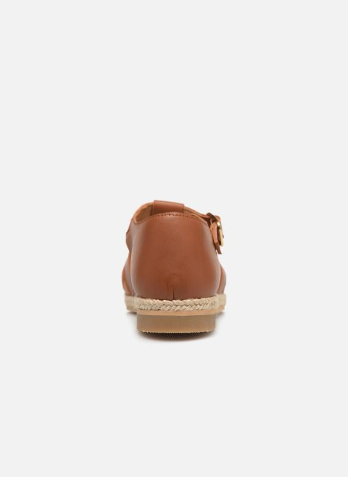 Sandales et nu-pieds Cendry Sasha Marron vue droite