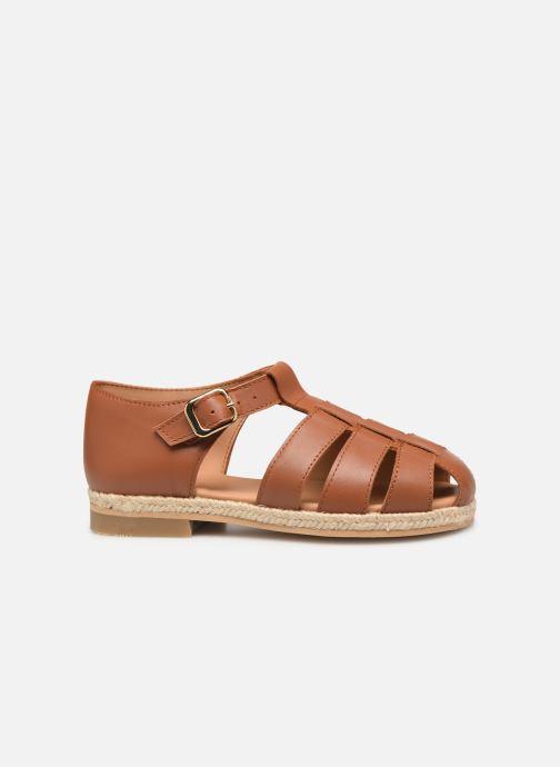 Sandales et nu-pieds Cendry Sasha Marron vue derrière