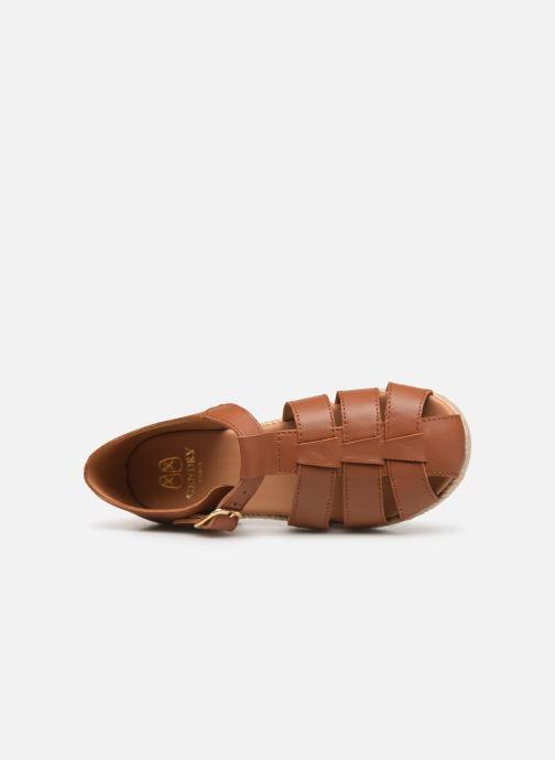 Sandales et nu-pieds Cendry Sasha Marron vue gauche