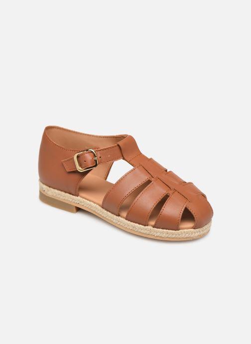 Sandales et nu-pieds Cendry Sasha Marron vue détail/paire
