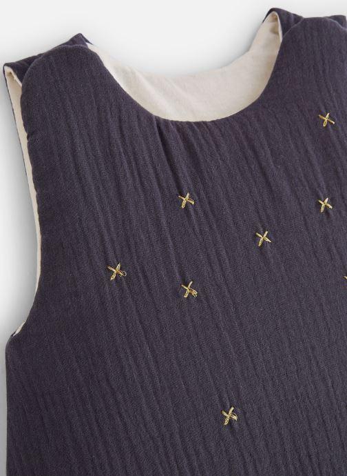Vêtements Cyrillus Gigoteuse Coton Gaufre Etoiles Bleu vue portées chaussures