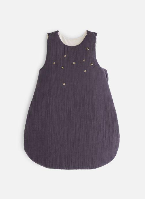 Vêtements Cyrillus Gigoteuse Coton Gaufre Etoiles Bleu vue détail/paire