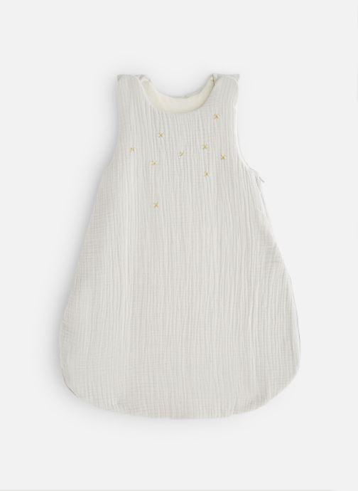 Vêtements Cyrillus Gigoteuse Coton Gaufre Etoiles Gris Blanc vue détail/paire